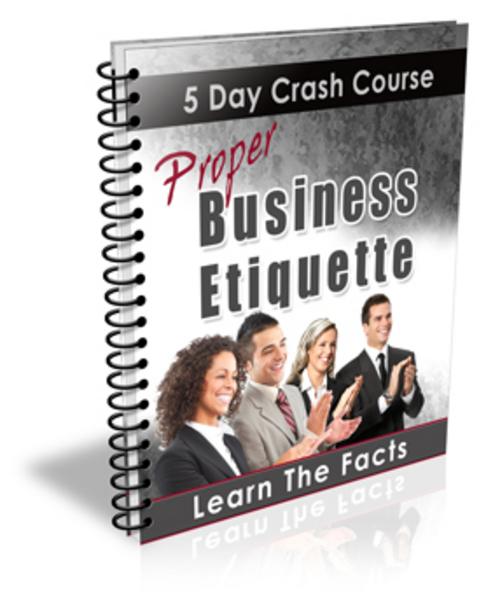 Product picture Proper Business Etiquette MRR