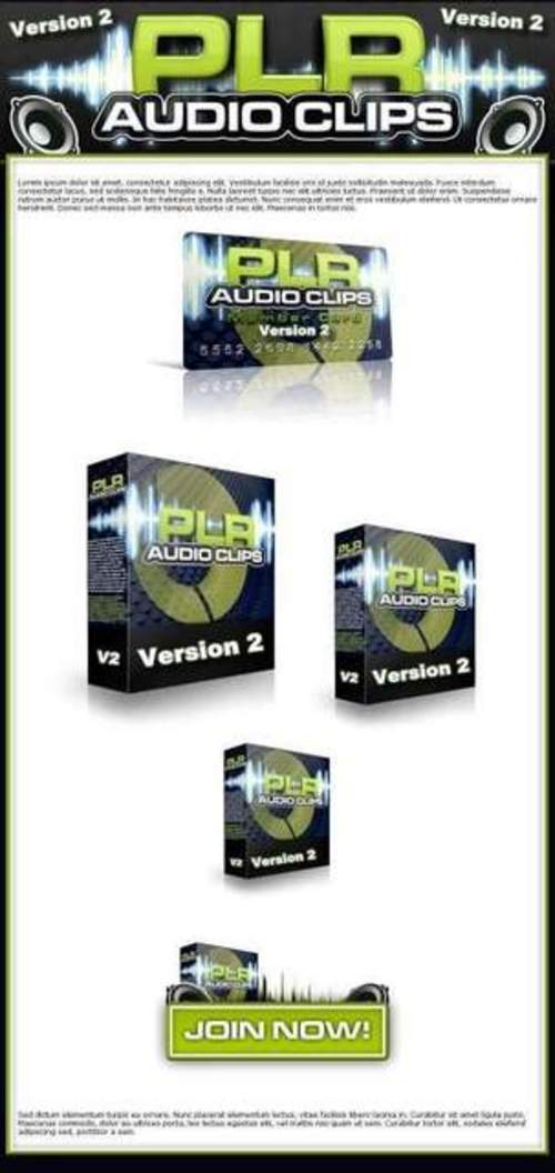 Product picture PLR Audio Clips V2